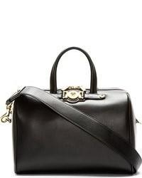 Versace Black Leather Medusa Duffle Bag