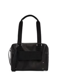 Rick Owens Black Leather Trolley Bag