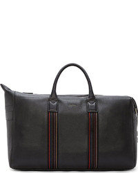 Black pebbled leather holdall bag medium 175789