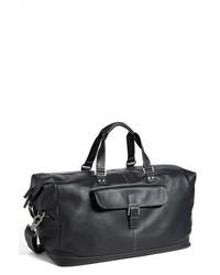 Boconi Tyler Leather Cargo Duffel Bag Brown