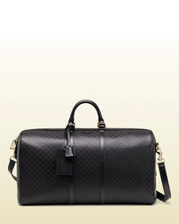 Gucci Bright Diamante Leather Carry On Duffle Bag