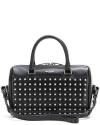Saint Laurent Duffle 3 Mini Embellished Leather Bowling Bag