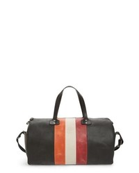 Ghurka Grove Stripe Leather Duffel Bag