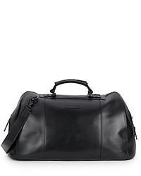 John Varvatos London Leather Duffel Bag