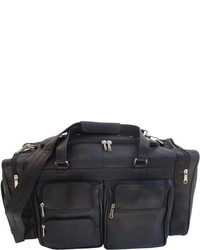 Piel Leather 20 Duffel Bag With Pockets 7720