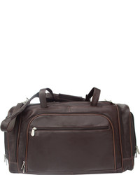 Piel Leather Multi Compartt Duffel Bag 2462