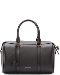 Burberry London Black Leather Large Duffle Bag
