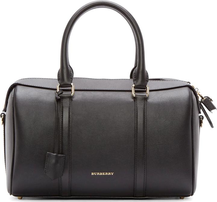 0d59c233a817 ... Burberry London Black Leather Large Duffle Bag ...
