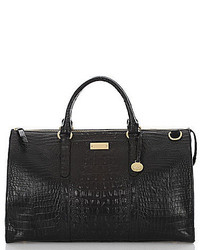 Brahmin Melbourne Collection Anywhere Croco Embossed Weekender Bag