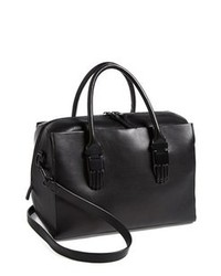 Opening Ceremony Classic Handsome Calfskin Leather Carryall Black
