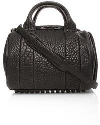 Alexander Wang Rockie Matte Leather Crossbody Satchel Black