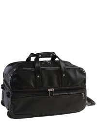 Royce Leather Rolling Duffel Bag