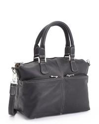 Royce Leather Weekender Duffel Bag In Handcrafted Colombian Genuine Leather Black