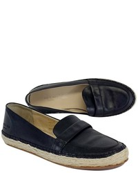 Rag & Bone Black Leather Espadrille Loafers