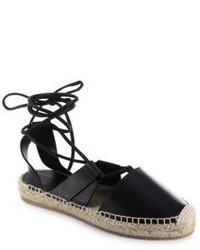 Jimmy Choo Darby Vac Leather Lace Up Espadrilles