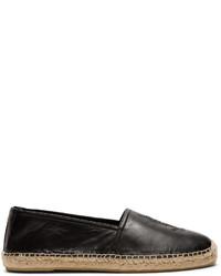 Saint Laurent Jimmy Embroidered Leather Espadrilles