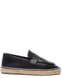 Loewe Leather Loafer Espadrilles