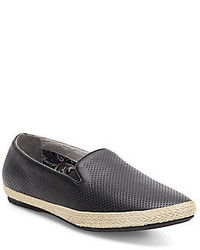 Joe's Jeans Perforated Leather Espadrille Slip Ons