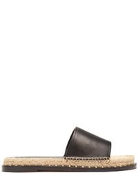 Valentino Rockstud Leather Espadrille Slides