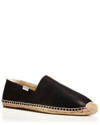 Soludos Smooth Leather Espadrille Slip Ons