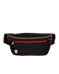 Alexander McQueen Black And Red Double Zip Bum Bag