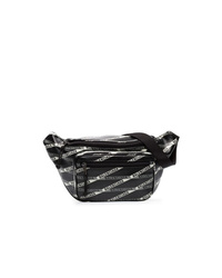 Balenciaga Black Explorer Logo Leather Belt Bag