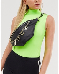 ASOS DESIGN Bum Bag With Amour Charm Chain Detail