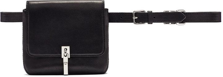 ... Elizabeth and James Cynnie Leather Belt Bag Black ...