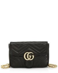 Gucci Gg Marmont Quilted Leather Chain Belt Bag