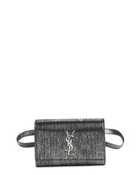 Saint Laurent Kate Lame Lambskin Leather Belt Bag