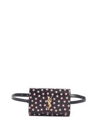 Saint Laurent Kate Star Print Calfskin Leather Belt Bag