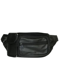 Leather in Chicago, Inc. Hollywood Tag Black Leather Fanny Pack