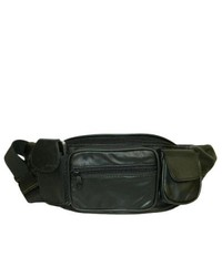 Leather in Chicago, Inc. Hollywood Tag Large Black Leather Fanny Pack
