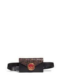 Fendi Logo Calfskin Leather Belt Bag