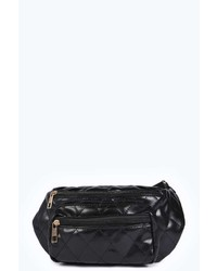 Boohoo Megan Quilted Front Zip Bum Bag