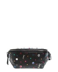 Saint Laurent Monogram Studded Leather Belt Bag
