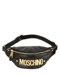 Moschino Logo Lettering Leather Belt Pack