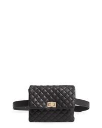 Mali + Lili Quilted Vegan Leather Belt Bag
