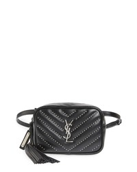 Saint Laurent Studded Quilted Micro Belt Bag