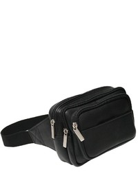 Royce Leather Vaquettamulti Compartt Fanny Pack