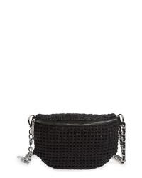 Steve Madden Woven Faux Leather Belt Bag