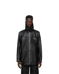 Gmbh Black Faux Leather Adhil Jacket