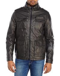 Dockers Black Faux Leather Field Jacket