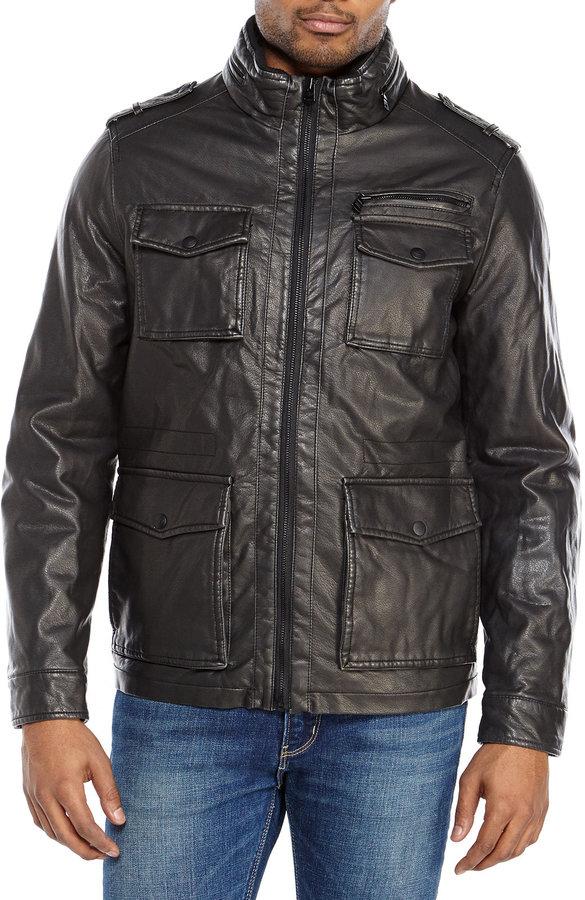 Faux Century 130 Field Black 21 Leather Jacket Dockers 5awq7RxP