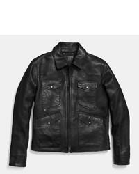 Coach Four Pocket Leather Jacket