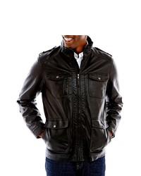 Izod Faux Leather Field Jacket