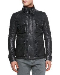 Langford quilted leather jacket black medium 6326