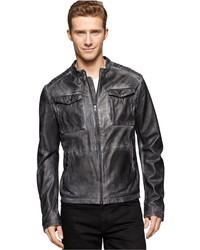 Calvin Klein Jeans Motorcycle Leather Jacket
