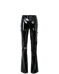 Tufi Duek Leather Panelled Trousers