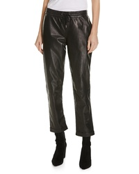 Frame Pull On Leather Trousers